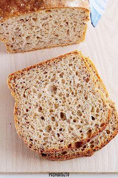 posmakujto!   Chleb pszenny razowy z siemieniem lnianym How To Make Bread, Bread Making, Bread Rolls, Ale, Cooking, Bulgur, Brot, Baking, Kitchen