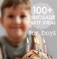 I love dinosaurs, too....I would like to use some of these dinosaur birthday party ideas as playdate themes!