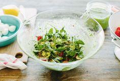 Arugula Caprese Salad with Kale Pesto [RECIPE]