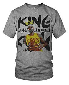 King James Iconic Basketball Oversized Lebron James T-Shirt - Large. 100% Pre-Shrunk Ring-Spun Cotton. Slim, Comfortable, Modern, Unisex Fit. Professionally printed in the USA. Machine Wash Cold/Tumble Dry. If you prefer a looser fit, order a size larger.