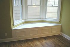 Window bench with the vent in the back for the air to escape