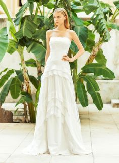 Pretty and dreamy!  Bridal 2015 Collection by @costarellos ! See more here http://www.love4wed.com/christos-costarellos-bridal-collection-2015/ #2015bridalcollection #ChristosCostarellos #designerweddingdresses