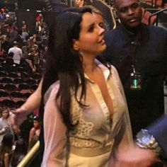 Lana at The Weeknd show in Los Angeles, California