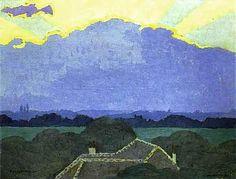 Felix Vallotton, Cloud in Romanel/Nuage à Romanel 1900, Oil on cardboard, 46 x 35 cm