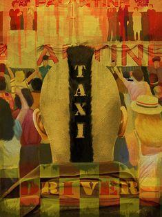 Poster Taxi Driver, 1976, por David Amblard