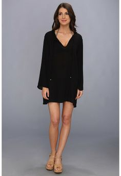 c9327c5760019 Athena Heavenly Tunic Cover-up (Black) - Apparel on shopstyle.com Cover
