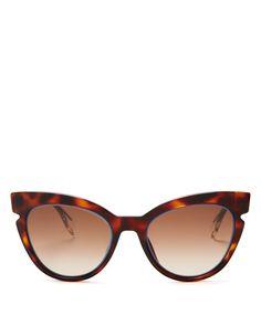 Fendi Cut Out Cat Eye Sunglasses, 51mm