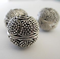 Bali Sterling Silver Beads by PottyMouthGems