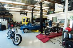 The Champions Moto motorcycle shop.