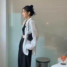 Korean Girl Fashion, Korean Street Fashion, Asian Fashion, Ulzzang Fashion Summer, Teen Girl Fashion, Korean Outfit Street Styles, Korean Outfits, Cute Casual Outfits, Pretty Outfits