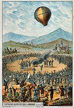 Montgolfier brothers first public hot air ballon demonstration - June 4, 1783