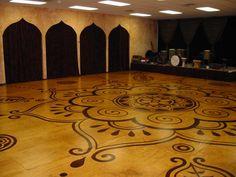 Beautiful belly dance studio