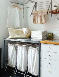 """Exceptional """"laundry room storage diy small"""" info is available on our site. Have a look and you wont be sorry you did. Small Laundry Space, Ikea Laundry, Laundry Room Organization, Laundry Room Design, Small Spaces, Laundry Baskets, Laundry Decor, Basement Laundry, Small Storage"""