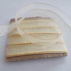 5 métres de ruban organza écru doré mercerie couture