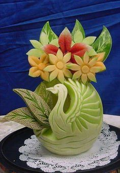 Fruit carve centerpiece