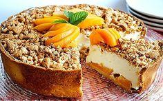 Crostata cheesecake alle pesche | cheesecake fredda