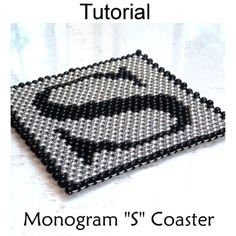 Monogram Coaster Collection A - Z Letters Home Decor Beading Pattern Tutorial Instructions