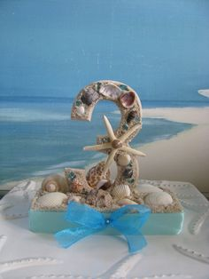 Seashell Table Numbers~Beach Wedding Table Numbers~Centerpiece~by CeShoreTreasures, $25.00