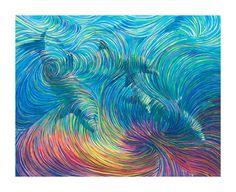 Dolphin Healing Energy Painting  Giclee Print by EnergyArtistJulia, $48.00