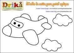 Camiseta decorada com avião em patch aplique • Drika Artesanato - O seu Blog de Artesanato!