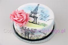 Paris Cake / Tort z motywem Paryż - Cake by Edyta rogwojskiego.pl