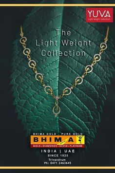 Visit and Explore Our fantastic YUVA light weight jewellery Collections. Available@ Bhima Jewellery Trivandrum Buy Gold Online, Ankle Jewelry, Gold Bangles Design, Gold Jewelry Simple, Platinum Jewelry, Gold Ornaments, Unique Necklaces, Necklace Designs, Indigo