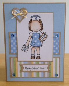 Nurses Day Card by - Cards and Paper Crafts at Splitcoaststampers Happy Nurses Day, Nurses Week, Congratulations Card Graduation, Diy And Crafts, Paper Crafts, Diy Cards, Craft Cards, Mft Stamps, Get Well Cards