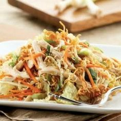 Thai Chicken Salad with Rice Noodles Recipe