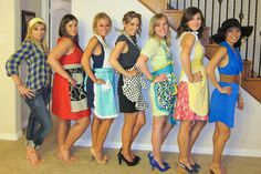 retro housewife bridal shower. OMG Katie, we were always talking about having a 50's themed house party :3