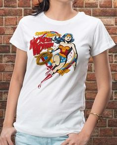 The hot-shot femme fatale Wonder Woman has everything going for her. You can too, by donning this print in classic Wonder Woman colors. Buy now: http://voxpopclothing.com/wonder-woman/WBWW0002FWH