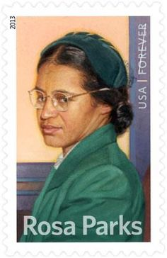 Rosa Parks is honored by the US Postal Service with her own stamp.