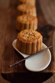 Traditional baked mooncake.
