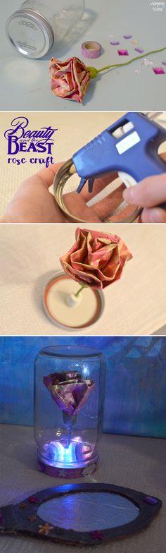 Beauty & The Beast Enchanted Rose Kids' Craft