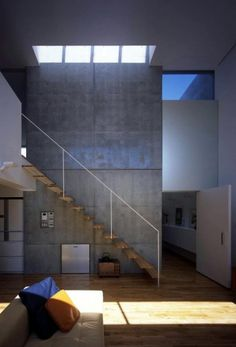 Concrete House In Hamadayama By K+S Architects   Modern, Contemporary,  Interior,