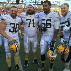 Pro Bowl John Kuhn, Josh Sitton, Julius Peppers and Clay Matthews! Love the Packers! Green Bay Football, Green Bay Packers, Football Memes, Football Team, Football Reference, Julius Peppers, Go Packers, Clay Matthews, Nfl Sports