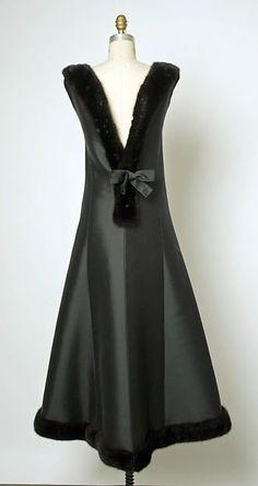 Evening dress (view, gorgeous, of back), Cristobal Balenciaga, 1964, The Metropolitan Museum of Art