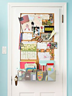 Door Transformation -- writing materials for little boy to stay in touch with deployed Dad.  Maps of home state and Iraq for visual. Love!