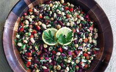Mediterranean Bean Salad -   What should you bring to that last-minute cookout? This refreshingly simple Mediterranean bean salad, that's what!
