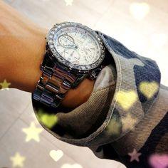 Rhinestone Watch by Guess