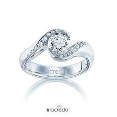 Other Fine Rings Strict Damen Ring Verlobungsring 10 Karat Gold Unendlichkeit Ring Mit Schwarz Zirkonia
