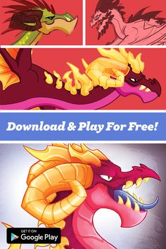 Have You Played DragonVale Yet? It is the Original & Ultimate Dragon Breeding Game. Hatch, Breed, & Love Your Dragons as They Level Up. There's New Dragons Added Each Week! | Dragons | Breeding | Simulation Game | Mobile Game | Free | Art |