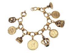 Bracciale Sigilli e Monete: propiziatorio di buona fortuna e copiosità, sigillate in una promessa.