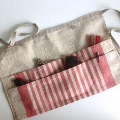 linen utility apron / gardening apron / half apron / waitress