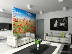 Fototapeten Landschaft Blumen 6