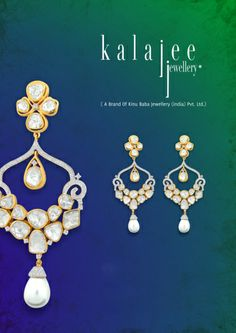 For the lovers of craft and design, #Earrings #Diamond #polki #fashion #glamorous