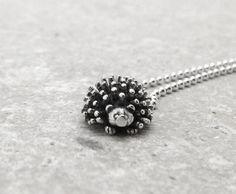 Hedgehog Necklace Sterling Silver by GirlBurkeStudios on Etsy, $27.00