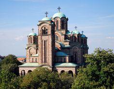 Church of St. Mark in Belgrade (1931-1940) is built in the Moravian (Moravska) style.