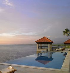The key to The Leela Kovalam is its cliff-top setting looking out over pristine beaches to the far horizon. The resort is known for its world class dining, seamless service, and palatial accommodations.  http://www.theleela.com/locations/kovalam