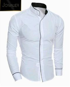 Men's Shirts Fashion Mandarin collar Solid Mens Dress Shirts Long sleeve Slim Fit Casual Social Camisas Masculinas for Man Chemise homme Slim Fit Dress Shirts, Slim Fit Dresses, Fitted Dress Shirts, Dress Tops, Grandad Collar Shirt, Collar Shirts, Grandad Shirts, Chinese Collar Shirt, Casual Shirts For Men