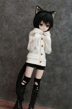 30 Ideas For Cats Cute Kawaii Kitty Chibi, Anime Dolls, Ooak Dolls, Kawaii Doll, Kawaii Anime, Anime Cat, Pretty Dolls, Beautiful Dolls, Girl Dolls